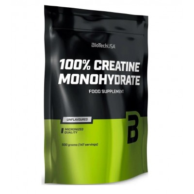 BioTech USA 100% Creatine Monohydrate (500g) packet