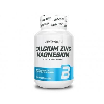BioTech USA Calcium Zinc Magnesium (100 tabs)