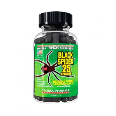 Cloma Pharma Black Spider 25 (100 caps)
