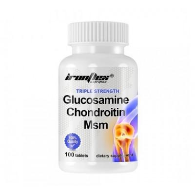 IronFlex Triple Strength Glucosamine Chondroitin MSM (100 tabs)