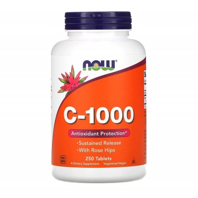 NOW C-1000 with Rose Hips (250 tabs)
