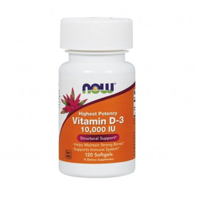 NOW Vitamin D3 10,000 IU (120 caps)