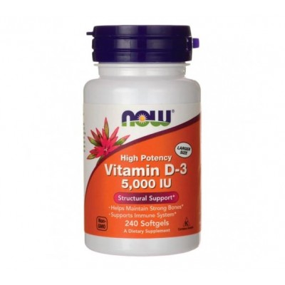 NOW Vitamin D3 5,000 IU (240 caps)