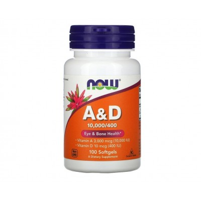 NOW A & D 10,000 / 400 (100 softgels)