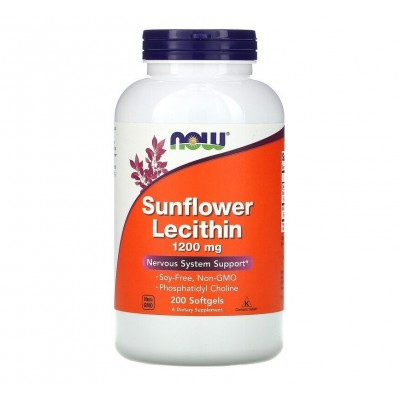 NOW Sunflower Lecithin 1200 mg (200 softgels)