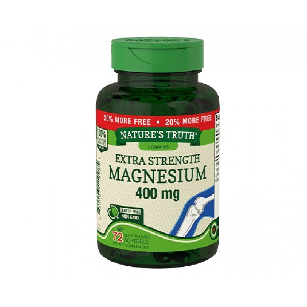Nature's Truth Extra Strength Magnesium 400 mg (72 softgels)