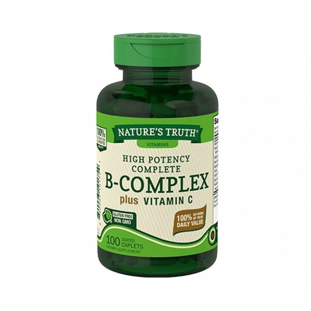 Nature's Truth B-Complex plus Vitamin C (100 capl)