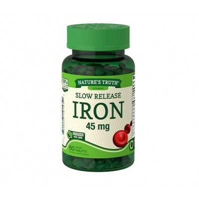 Nature's Truth Slow Release Iron 45 mg (60 tabs)