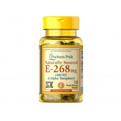 Puritan's Pride Narurally Sourced Vitamin E 268mg 400IU (50 caps)