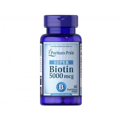 Puritan's Pride Super Biotin 5000mcg (60 caps)