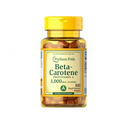 Puritan's Pride Beta Carotene Provitamin A 3,000 mcg (100 caps)