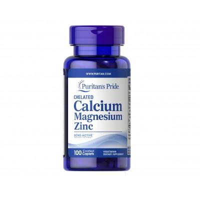 Puritan's Pride Calcium Magnesium Zinc (100 tabs)