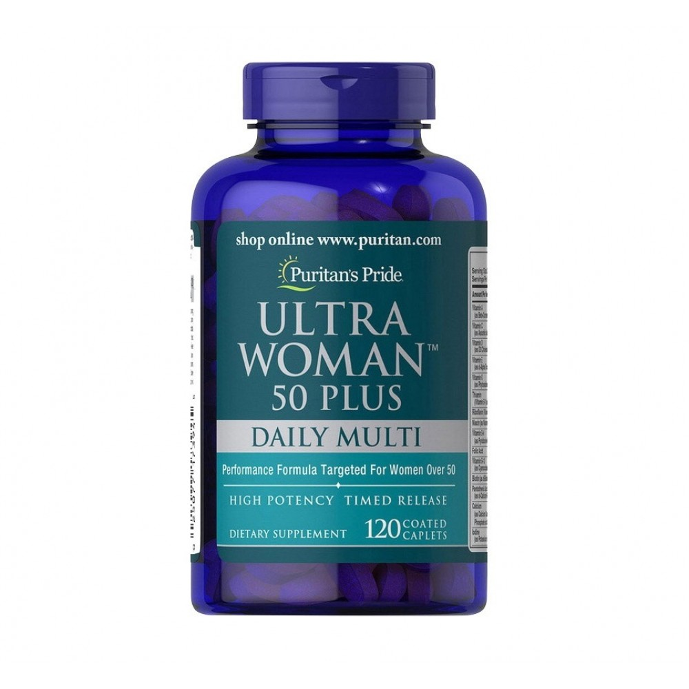 Puritan's Pride Ultra Women 50 Plus Daily Multi (120 capl)