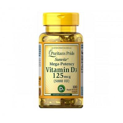 Puritan's Pride Vitamin D3 125mcg 5000IU (100 caps)