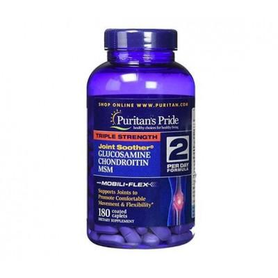 Puritan's Pride Triple Strenght Glucosamine, Chondroitin & MSM (180 capl)