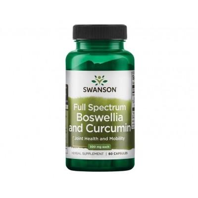 Swanson Full Spectrum Boswellia  and Curcumin (60 caps)