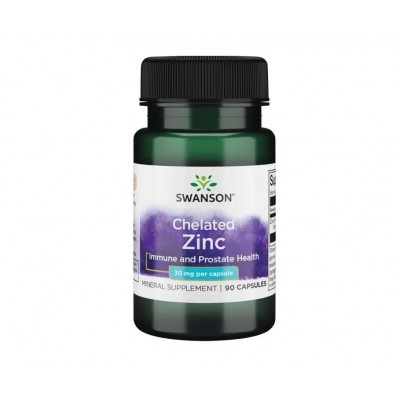 Swanson Chelated Zinc 30mg (90 caps)