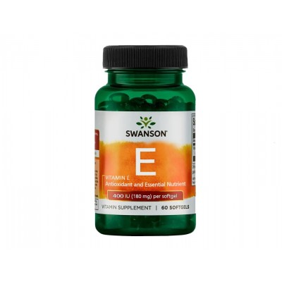 Swanson Vitamin E 400 IU / 180 mg (60 softgels)