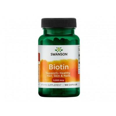 Swanson Biotin 5,000 mcg (100 caps)