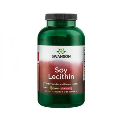 Swanson Soy Lecithin 1,2 grams (180 softgels)