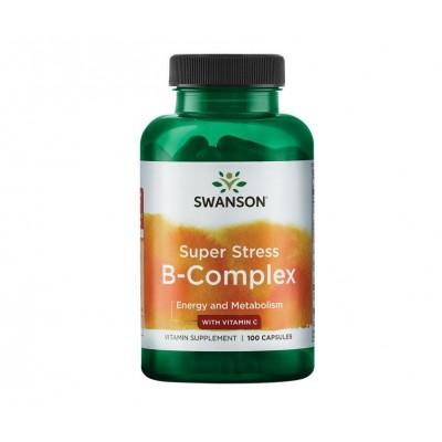 Swanson Super Stress B-Complex with Vitamin C  (100 caps)