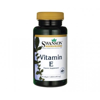 Swanson Vitamin E 1000 IU / 450 mg (60 softgels)