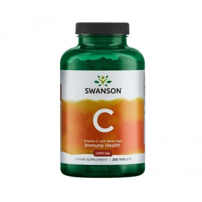 Swanson Vitamin C 1000 mg  with Rose Hips (250 tabs)