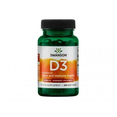 Swanson Vitamin D3 5,000 IU (250 softgels)